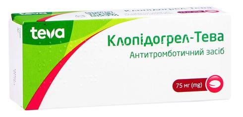 Клопідогрел Тева таблетки 75 мг 30 шт