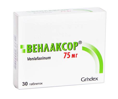Венлаксор таблетки 75 мг 30 шт