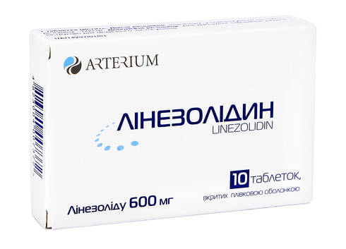 Лінезолідин таблетки 600 мг 10 шт