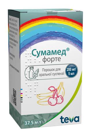 Сумамед форте порошок для оральної суспензії 200 мг/5 мл  37,5 мл 1 флакон