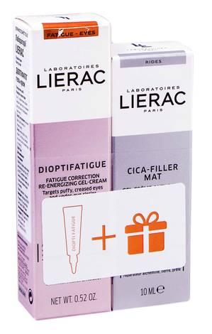 Lierac Dioptifatigue гель-крем 15 мл + Cica-Filler Mat крем-гель 10 мл 1 набір