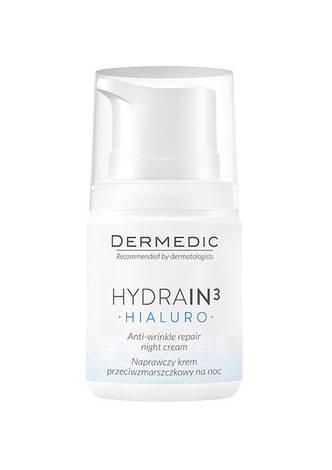 Dermedic Hydrain3 Гіалуро крем для обличчя нічний регенеруючий проти зморшок 62289 55 мл 1 флакон