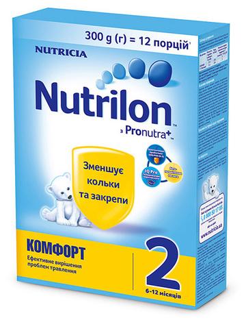 Nutrilon Комфорт 2 Суміш молочна 6-12 місяців 300 г 1 коробка