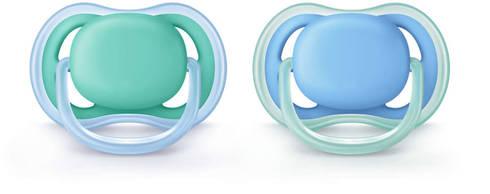 Avent Philips Ultra Air Пустушка для хлопчиків 6-18 місяців SCF244/22 2 шт