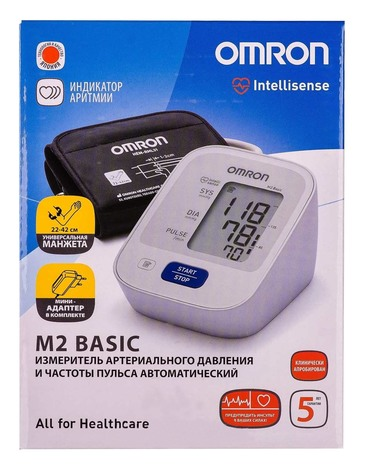 Omron M2 Basic (HEM-7121- ALRU) Тонометр автоматичний 1 шт