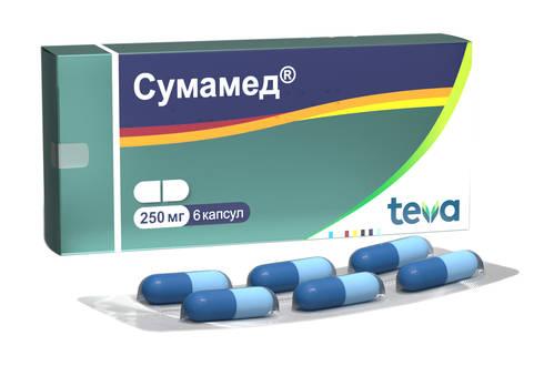 Сумамед капсули 250 мг 6 шт