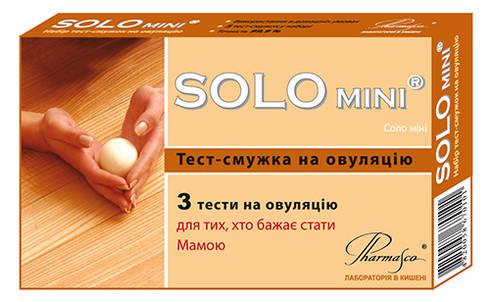 Pharmasco SOLO mini Тест-смужка на овуляцію 3 шт