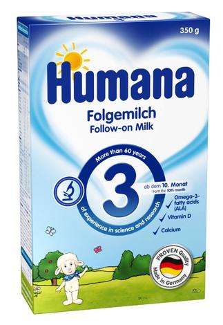 Humana 3 Молочна суміш з пребіотиками від 10 місяців 350 г 1 коробка