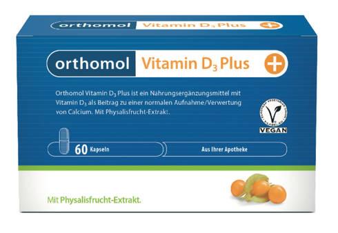 Orthomol Вітамін D3 Plus new капсули 60 шт