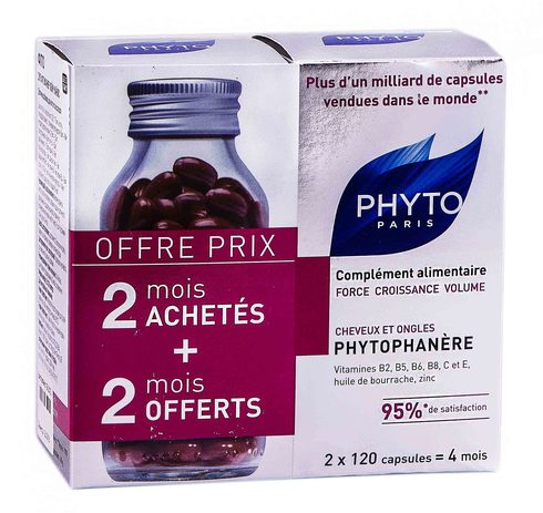Phyto Phytophanere Дієтична добавка для волосся та нігтів 2х120 капсул 1 набір