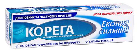 Корега Крем для фіксації зубних протезів Екстра сильний 40 мл 1 туба