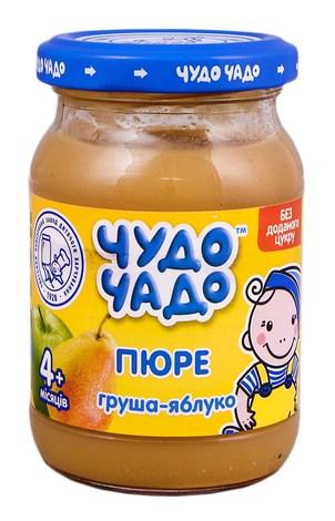 Чудо-Чадо Пюре яблуко-груша без цукру з 4 місяців 170 г 1 банка