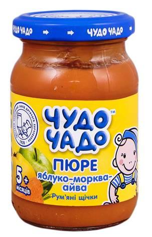 Чудо-Чадо Пюре яблуко-морква-айва з цукром з 4 місяців 170 г 1 банка