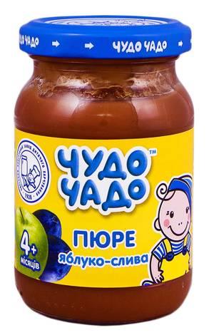 Чудо-Чадо Пюре яблуко-слива з цукром з 4 місяців 170 г 1 банка