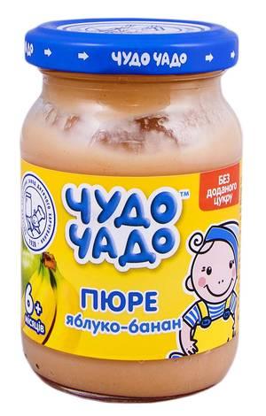 Чудо-Чадо Пюре яблуко-банан без цукру з 6 місяців 170 г 1 банка