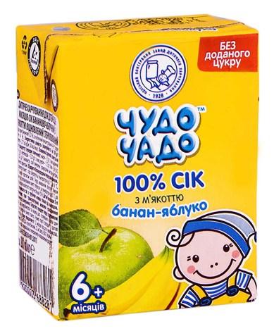 Чудо-Чадо Сік банан-яблуко з м'якоттю з 6 місяців 200 мл 1 пакет