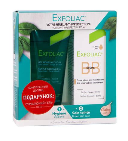 Noreva Exfoliac ВВ крем для обличчя 30 мл + Гель очищуючий для обличчя 100 мл 1 набір