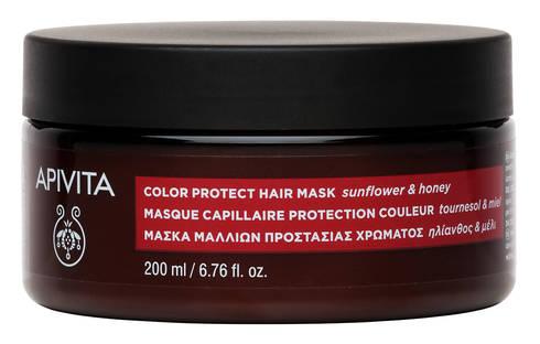 Apivita Маска для волосся Захист кольору з соняшником та медом 200 мл 1 банка