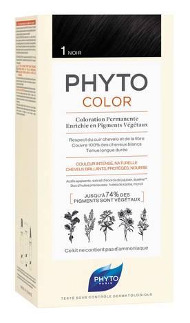 Phyto Phytocolor Крем-фарба 1 чорний 100 мл 1 комплект