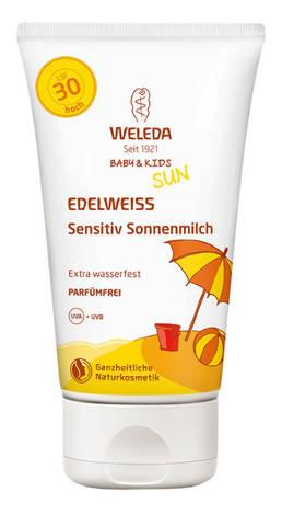 Weleda Едельвейс Молочко сонцезахисне для чутливої шкіри SPF-30 150 мл 1 туба