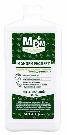 Manorm Експерт Антисептик для шкіри та поверхонь рідина 1 л 1 флакон
