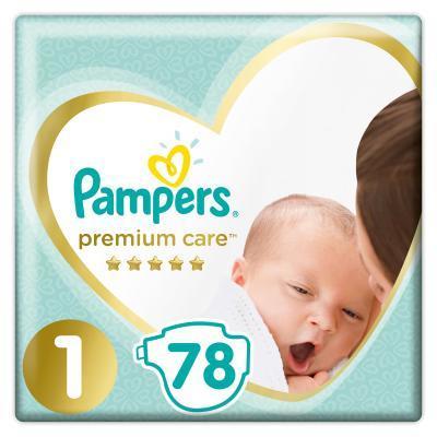 Pampers Premium Care 1 Newborn Підгузки дитячі 2-5 кг 78 шт