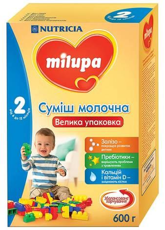 Milupa 2 Молочна суміш 6-12 місяців 600 г 1 коробка