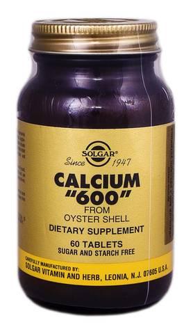 Solgar Кальцій 600 з раковин устриць таблетки 60 шт