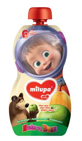 Milupa Пюре Маша і Ведмідь Яблуко, груша від 6 місяців 100 г 1 банка