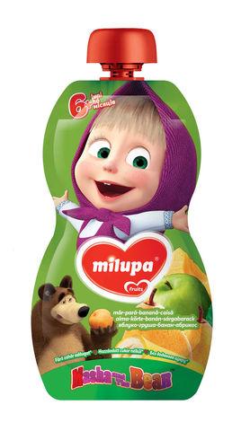 Milupa Пюре Маша і Ведмідь Яблуко, груша, банан, абрикос від 6 місяців 100 г 1 банка