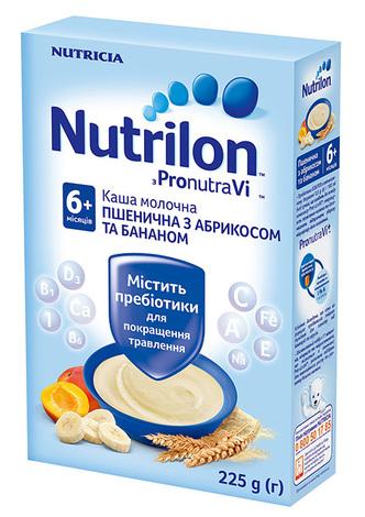 Nutrilon Каша пшенична з абрикосом та бананом з 6 місяців 225 г 1 коробка