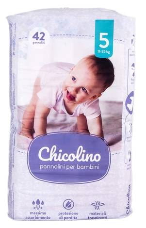 Chicolino 5 Підгузки дитячі 11-25 кг 42 шт