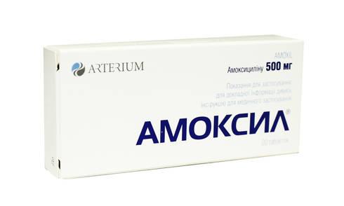 Амоксил таблетки 500 мг 20 шт