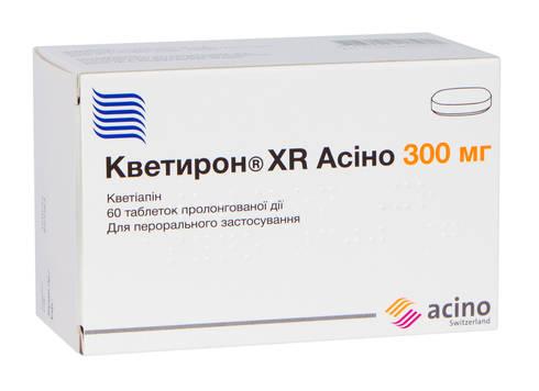 Кветирон XR Асіно таблетки 300 мг 60 шт