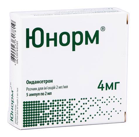Юнорм розчин для ін'єкцій 2 мг/мл 2 мл 5 ампул