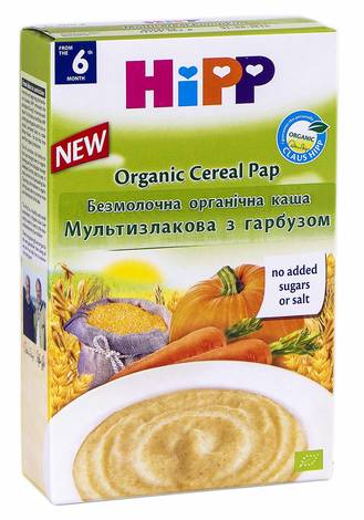 HiPP Каша безмолочна органічна Мультизлакова з гарбузом з 6 місяців 200 г 1 коробка