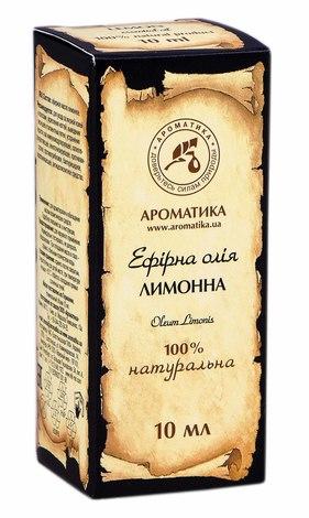 Ароматика Олія ефірна лимонна 10 мл 1 флакон