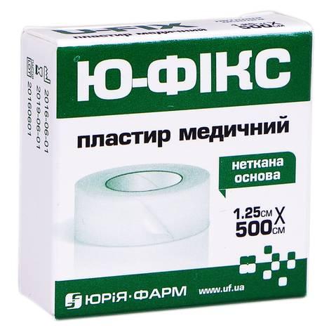 Ю-фікс Пластир медичний неткана основа 1,25х500 см 1 шт