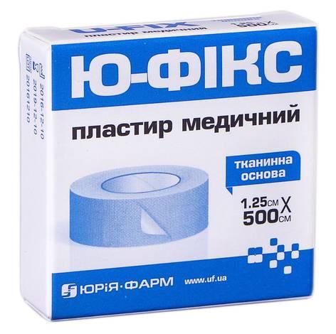 Ю-фікс Пластир медичний тканинна основа 1,25х500 см 1 шт