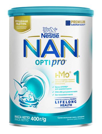NAN 1 Optipro Суха дитяча молочна суміш для новонароджених 400 г 1 банка