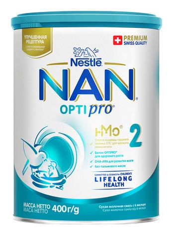 NAN 2 Optipro Суха дитяча молочна суміш від 6 місяців 400 г 1 банка