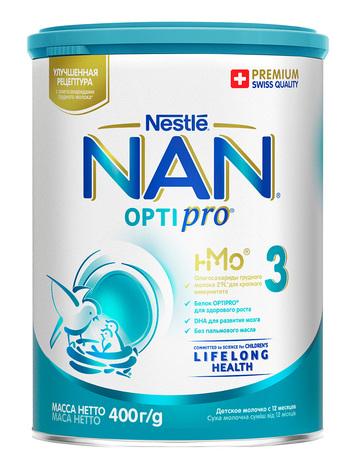 NAN 3 Optipro Суха дитяча молочна суміш від 12 місяців 400 г 1 банка