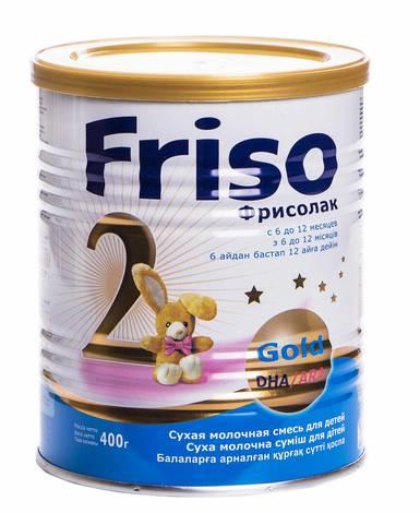 Friso 2 Фрісолак Gold Суміш молочна від 6 до 12 місяців 400 г 1 банка