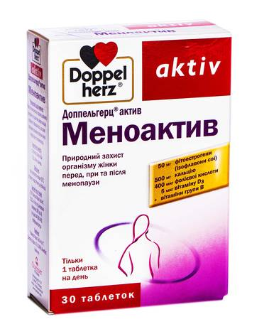 Doppel herz aktiv Меноактив таблетки 30 шт