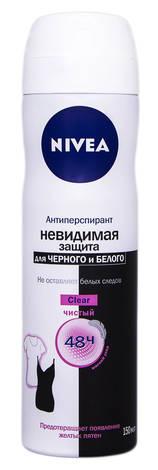 Nivea Clear Антиперспірант Невидимий захист для чорного та білого 150 мл 1 флакон