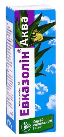 Евказолін Аква спрей назальний 1 мг/мл 10 г 1 флакон