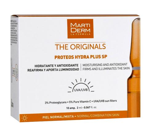 MartiDerm The Originals Протеос Гідра Плюс SP антиоксидантна дія для нормальної і комбінованої шкіри 2 мл 10 ампул
