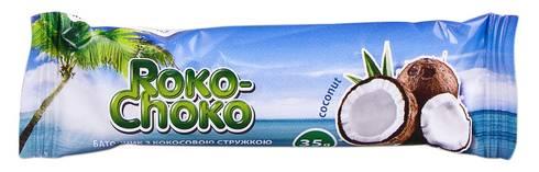 Roko-Choko Батончик на основі кокосової стружки глазурований 35 г