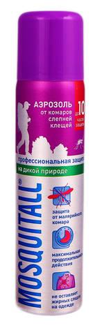Mosquitall Аерозоль від комарів та кліщів Професійний захист на дикій природі 75 мл 1 флакон