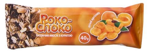 Roko-Choko Батончик-мюслі з курагою глазурований 40 г